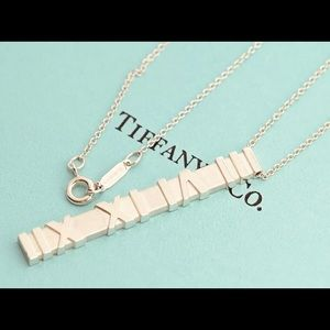 TIFFANY&Co Atlas Bar Pendant Necklace Sterling 925